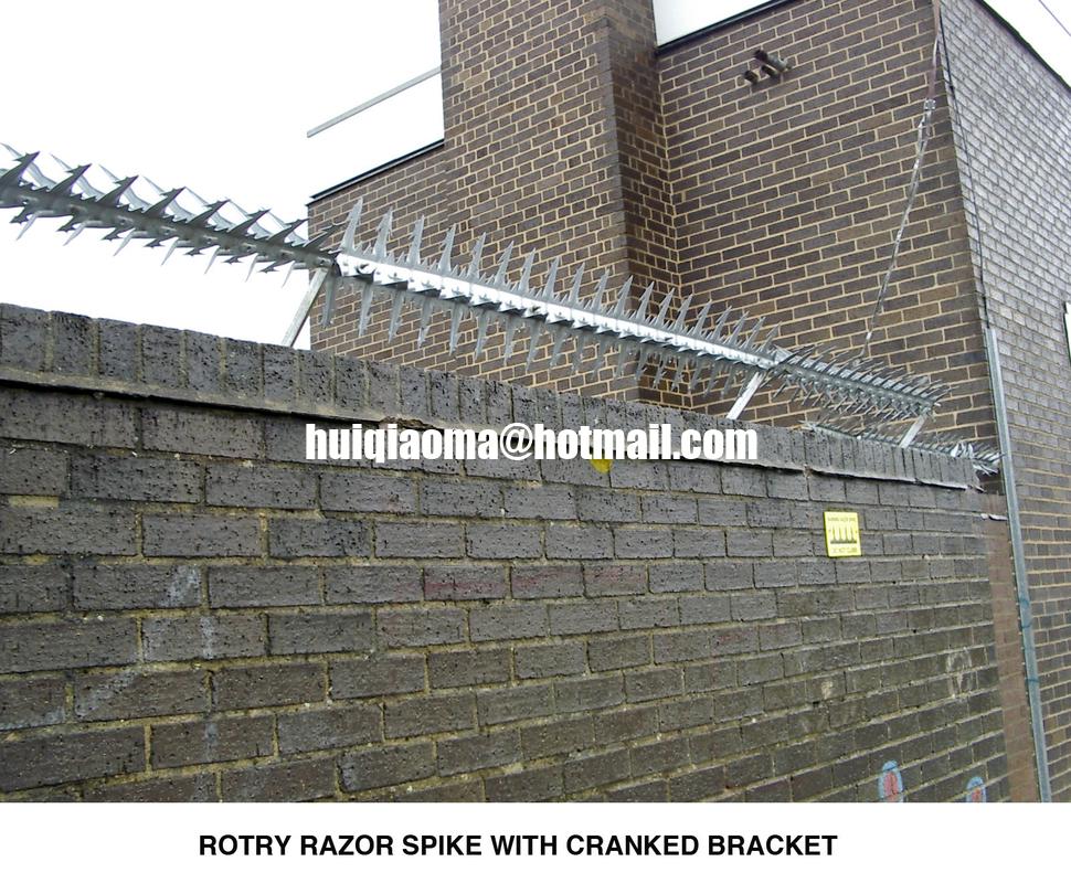 Rotary Razor Spike Rotating Wall Spike China Wall Spikes