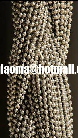 China Metal Beaded CurtainsBall Chain CurtainShimmer ScreenDoor Beads